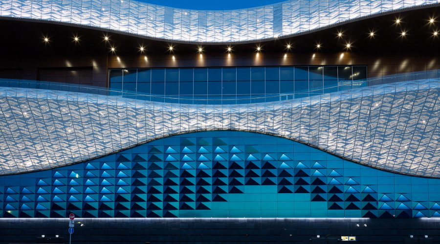Shining Waves of Shopping Mall Riviera in Moskau, Russia