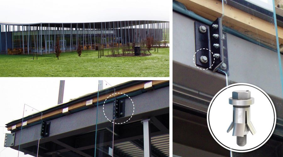 Hollo Bolts Used on Stonehenge Visitor Centre